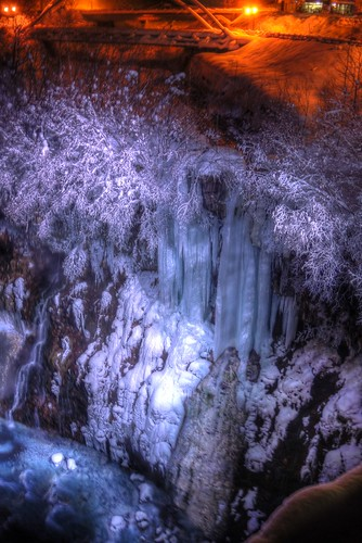 The Shirahige Waterfall of Biei in evening on JAN 07, 2017 vol03 (2)