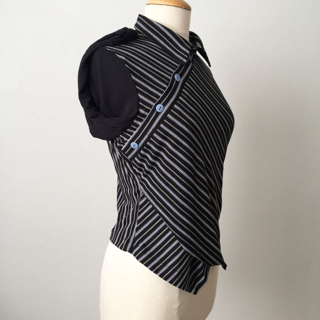 black stripe top side view