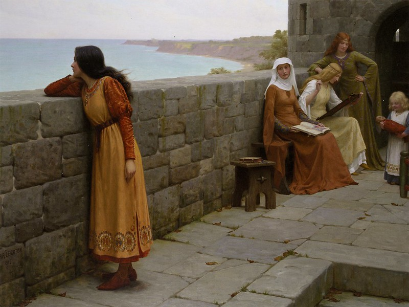 Edmund Blair Leighton - The Hostage (1912)