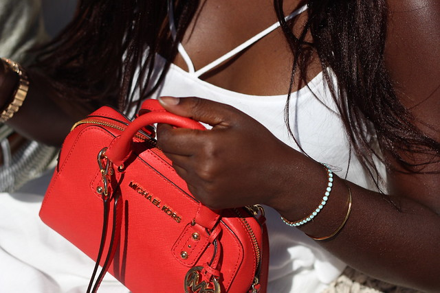 micheal kors red mini bag lisforlois