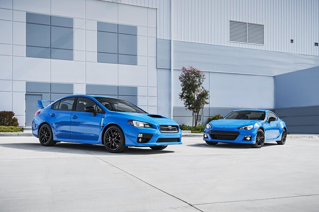 Subaru to offer limited edition Series.HyperBlue BRZ and WRX STI models