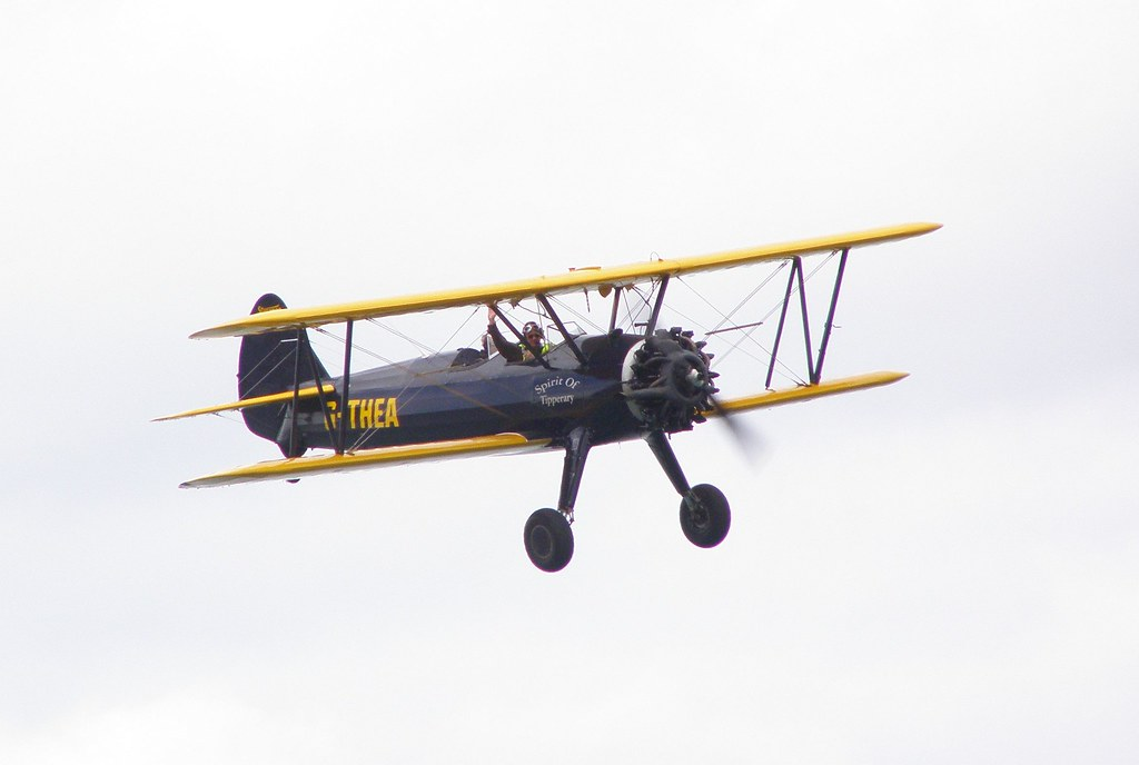 how to fly a stearman biplane