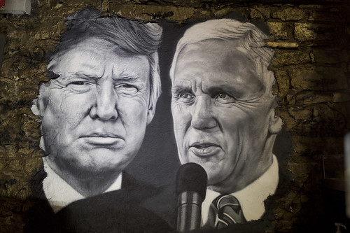 Donald Trump & Mike Pence, painted portrait DXO_0104_1 | by Abode of Chaos
