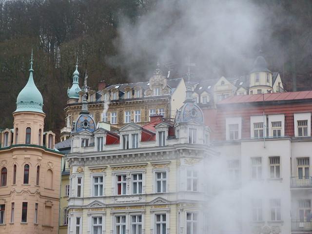 Karlovy Vary en invierno (El más famoso de los balnearios en República Checa)