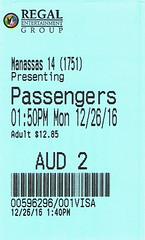 Passengers ticketstub