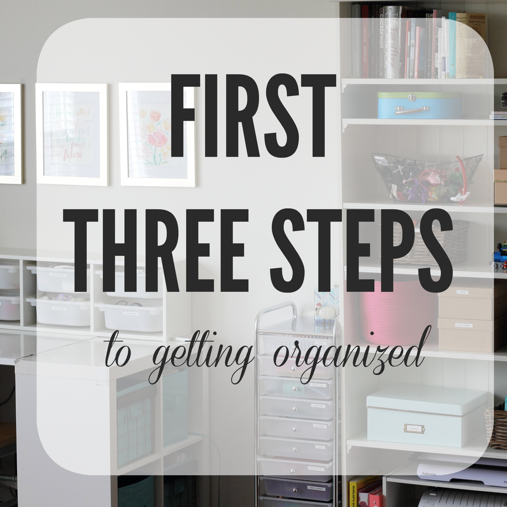 first three steps