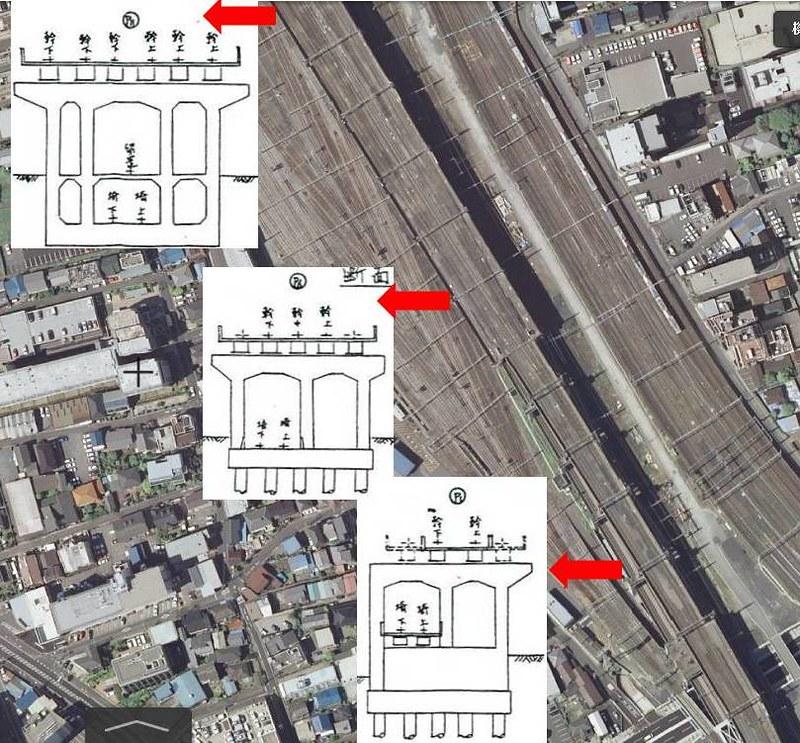 大宮駅付近の上越新幹線新宿ルート準備工等 (9)
