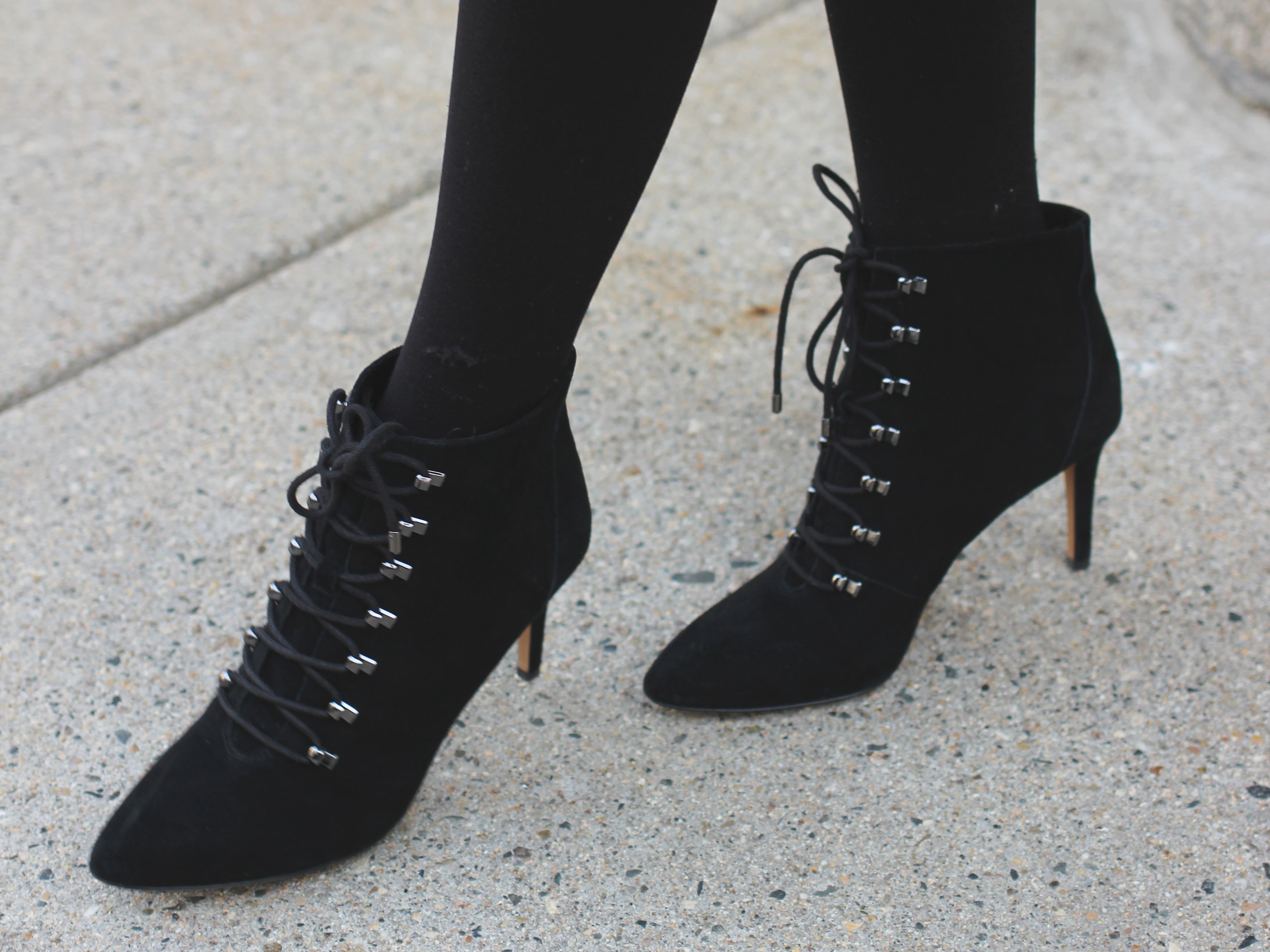 Lace up ankle stiletto boots