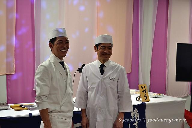 Chef Shogo Sasaki, owner chef of Restaurant IZUU & Chef Takeshi Matsuo, head chef of Restaurant IZUU