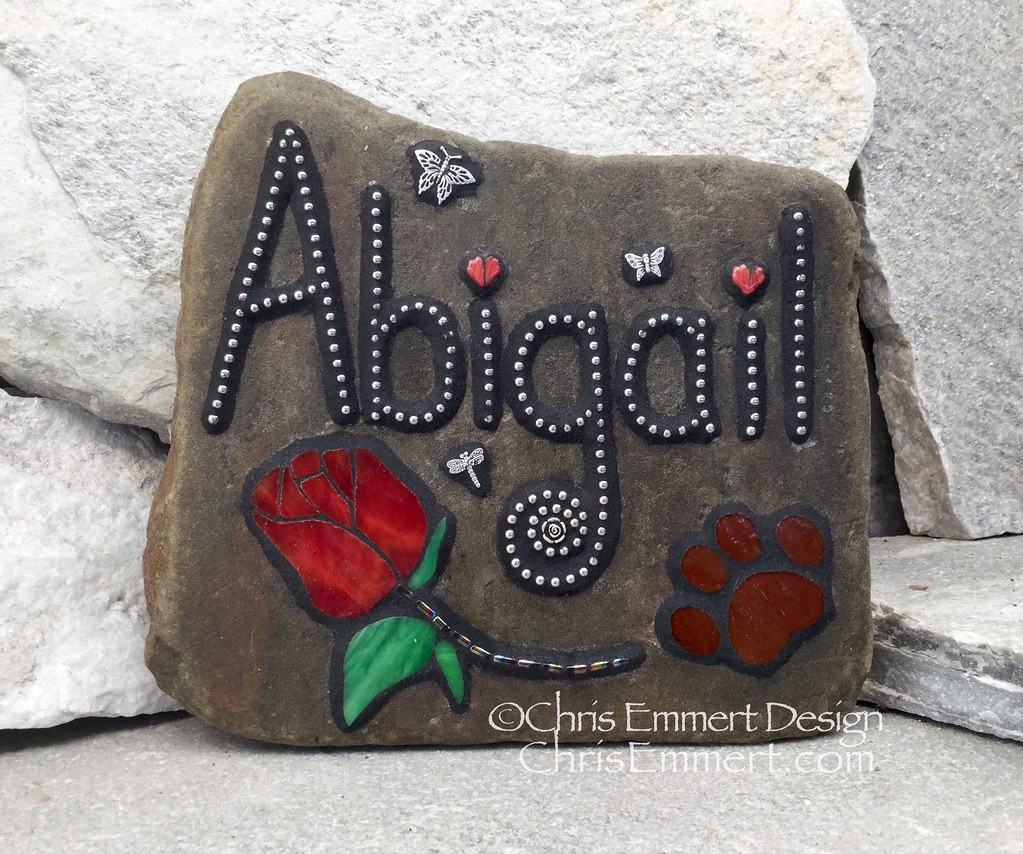 pet kelegant garden river custom large stone stones memorial memorials