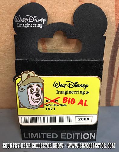 2008 Walt Disney Imagineering Limited Edition Big Al Pin - Country Bear Collector Show #083