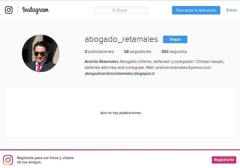 Abogado Andrés Retamales en Instagram - 2017