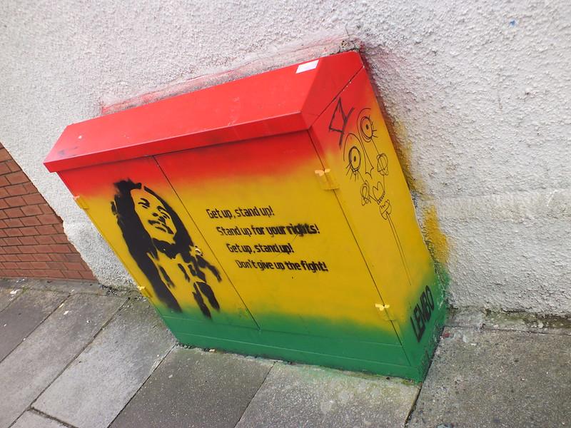 Bob Marley street art in Cardiff