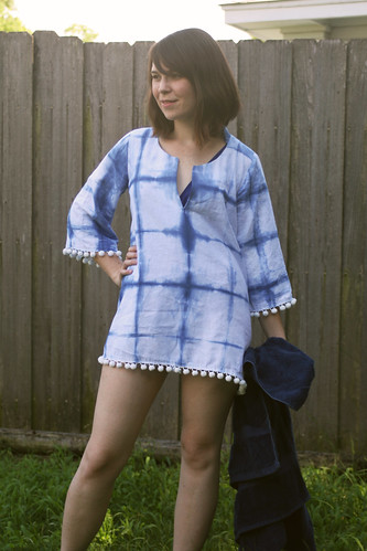 Indigo Dyed Beach Cover-up | by dixiediy