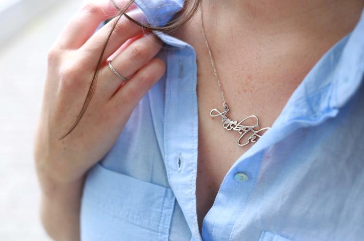 diamanti per tutti diamond moon ring, name necklace