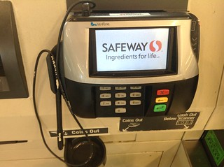 Safeway, Credit Card Swipe Device Machine Reader, Verifone | by JeepersMedia