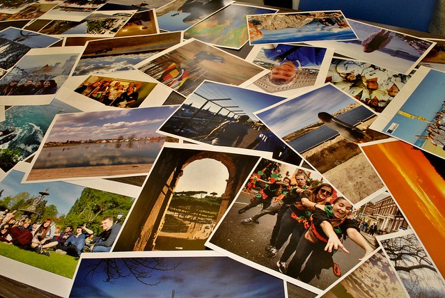 A display of entries from the 2016 Erasmus+ photo competition