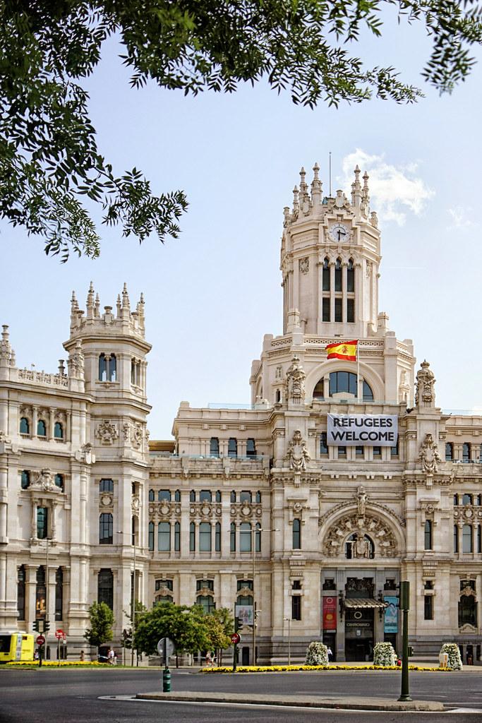 Espanha Madrid Palacio De Cibeles Www Infinitahighway