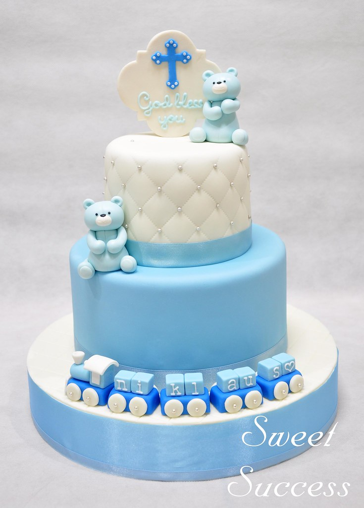 Baptismal Cake Baptismal Cake For A Baby Boy Welcome To