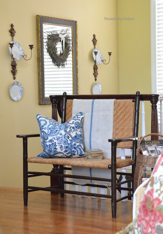Antique Split Oak Bench-Housepitality Designs