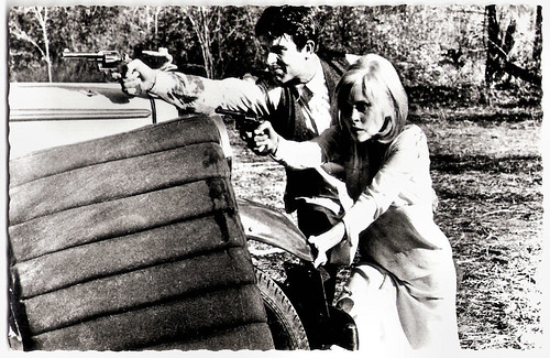Faye Dunaway and Warren Beatty in Bonnie and Clyde (1967)