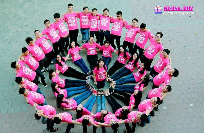 Áo đồng phục lớp màu hồng cá tính