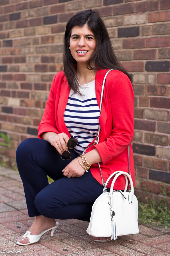 red blazer, striped shirt, navy trousers, white bag-10.jpg