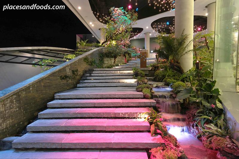 emquartier water garden stairs