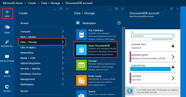 DocumentDB-Account-Create