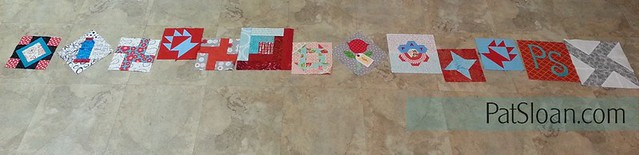 pat sloan birthday block quilt back making4