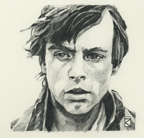 Star Wars illustrations by Russell Walks - Luke Skywalker
