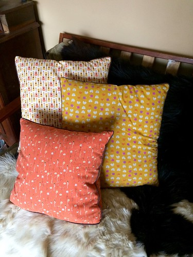 Trio of Heather Ross Pillows