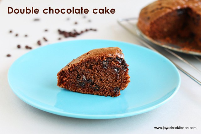 double chocolate chip cake