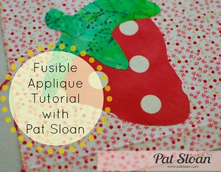 Pat Sloan Fusible Applique tutorial buttonsm