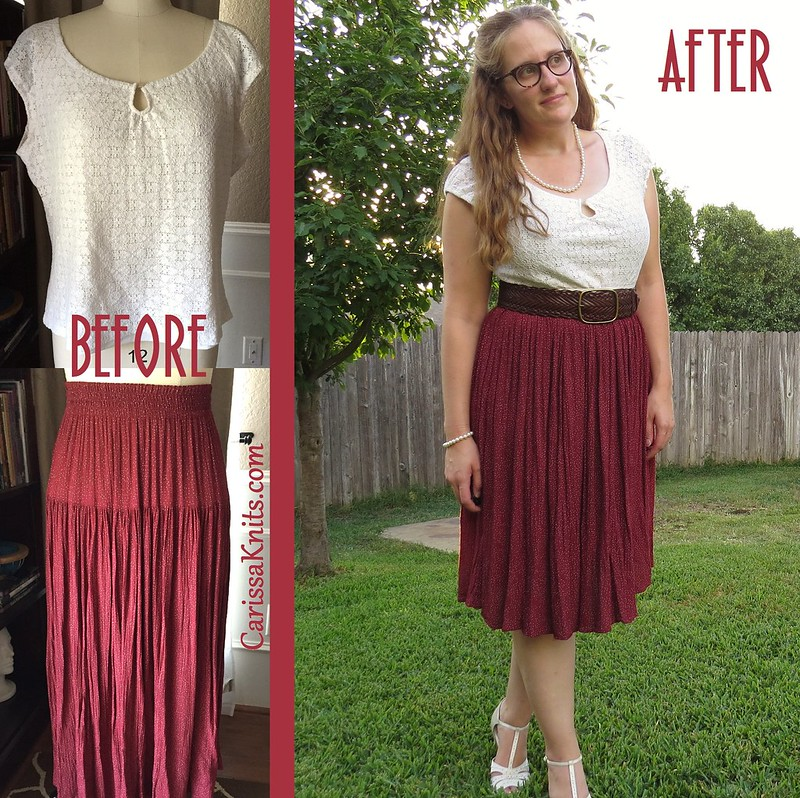 Vintage Inspired Dress - Before & After