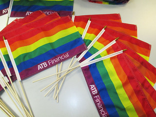 ATB Financial Pride Stick Flags | by The Flag Shop