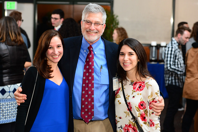 Dr. Gershon with former students at the Directors Guild of America reception