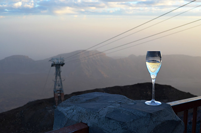 Cava at the cable car, stargazing trip, Teide National Park, Tenerife