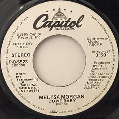 MELI'SA MORGAN:DO ME BABY(LABEL SIDE-A)