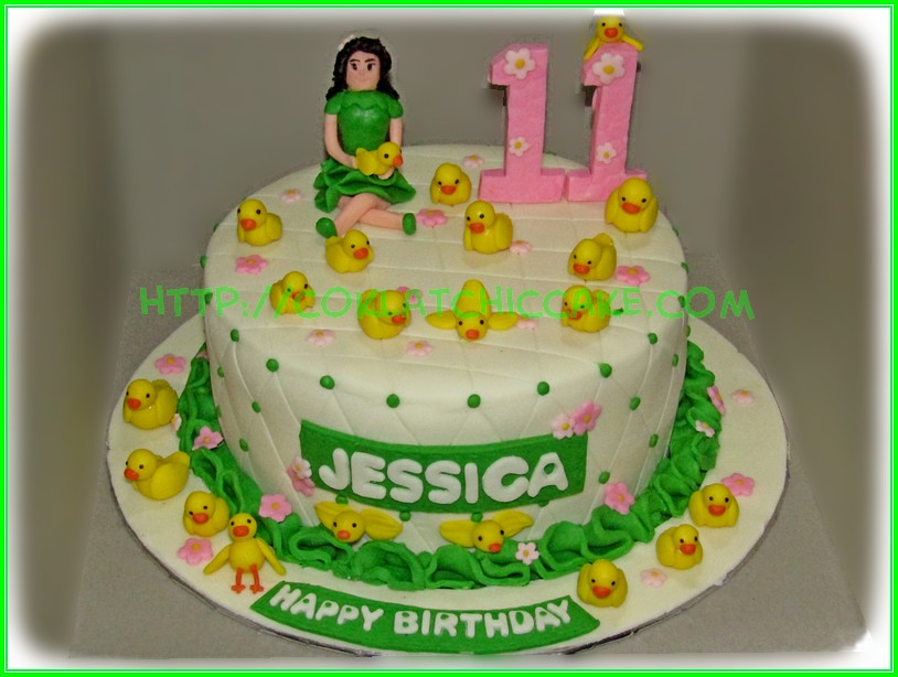Girl with ducks