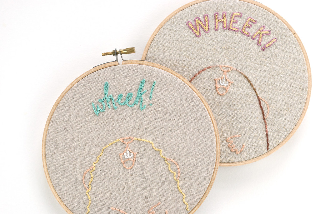 Wheek Embroidery Pattern