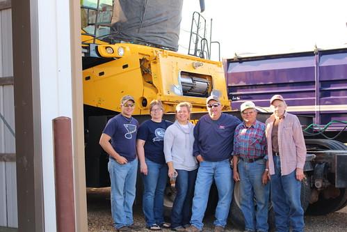 The annual sendoff, from left to right: Brandon, Loree, Steph, Bob, Grandpa Hiladore, Grandpa Bob