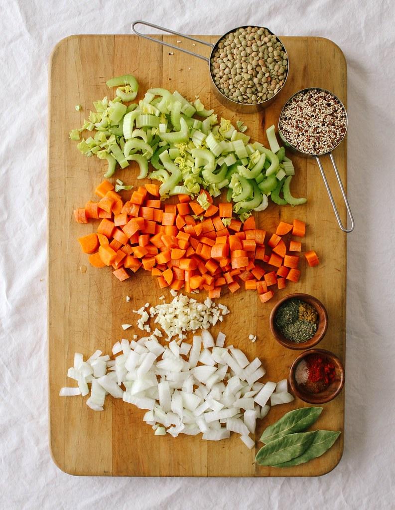 Smoky Lentil + Quinoa Soup