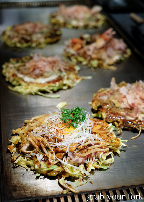 Okonomiyaki at DON, Osaka, Japan