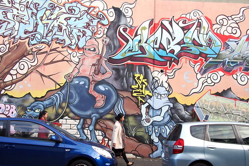 Street art or graffiti, Rose Street, Brunswick, Melbourne