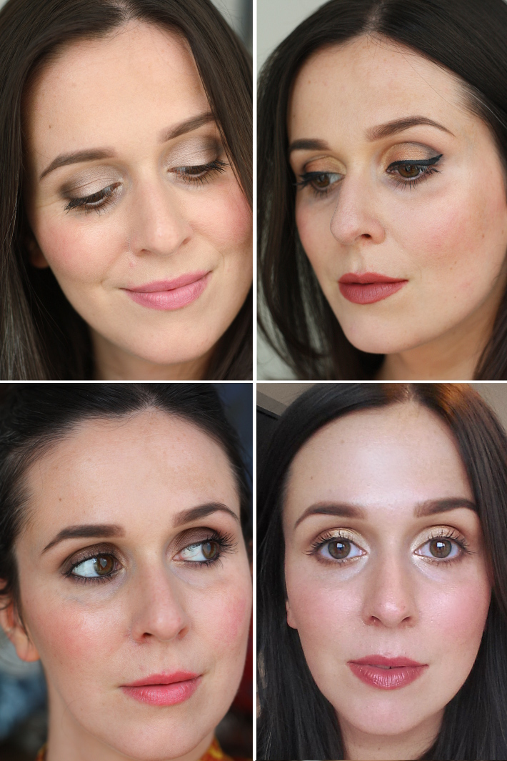 four looks using the Urban Decay Naked 2 palette