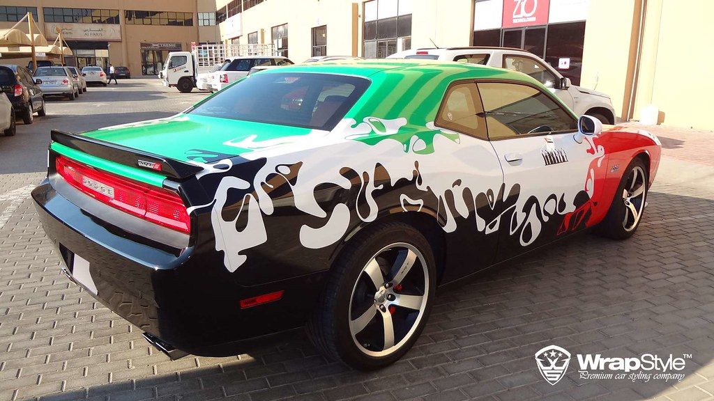 Dodge Challenger Dubai Design 01 Wrapstyle Car Wrap Foil Flickr