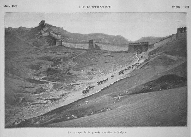 1907 Le passage de la grande muraille à KALGAN course automobile 1