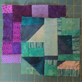 Purple and Teal Scraps