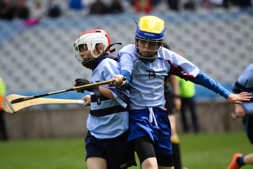Griangraifeanna ón gcluiche ceannais i gcoinne Scoil Mobhi i bPáirc an Chrócaigh / Photos from the Dublin trophy finals against Scoil Mobhi in Croke Park recently.